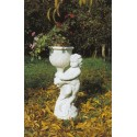 Portavaso Liana- portavaso in graniglia di marmo di Carrara arredo da giardino