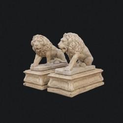 Coppia di leoni egizi