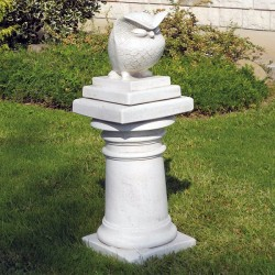 Gufo - statua da giardino in graniglia di marmo di carrara