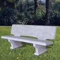 Panchina mortirolo con schienale arredo da giardino graniglia di marmo di carrara