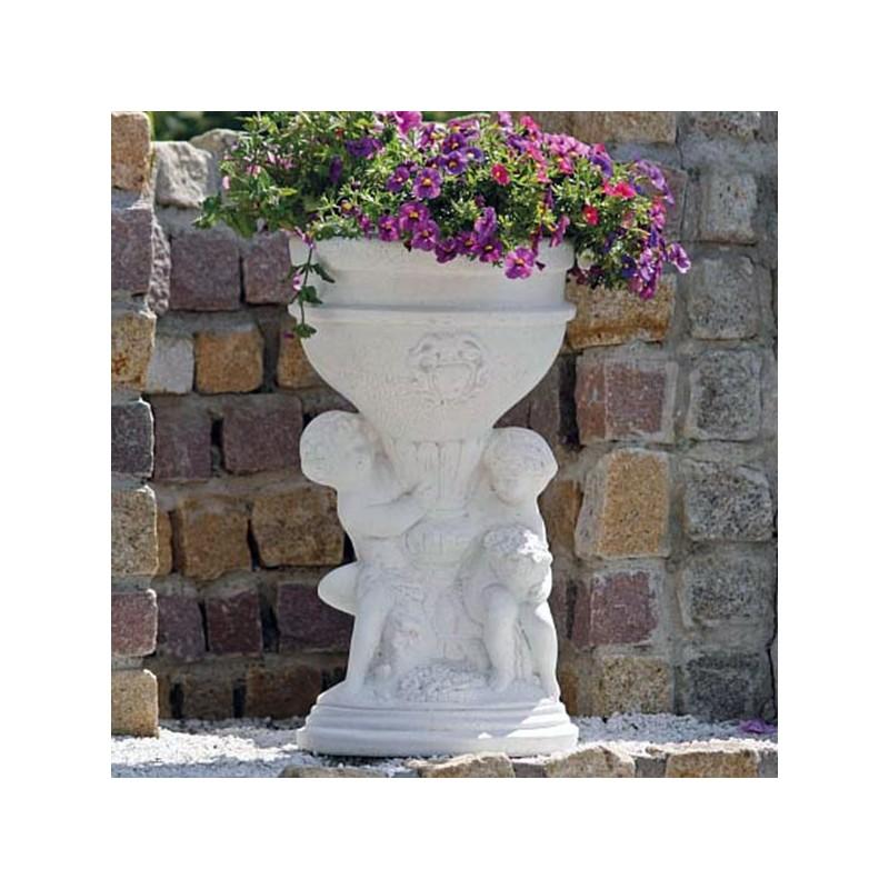 Portavaso Vermilio- arredo da giardino in pietra ricomposta