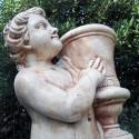 Coppia portavaso Grazioso (grande)- arredo da giardino in pietra ricomposta