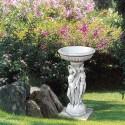 Portavaso le 3 Veneri- arredo da giardino in graniglia di marmo di carrara