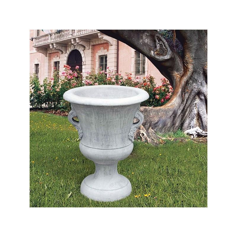 Vaso Ferrara- arredo da giardino in pietra ricomposta