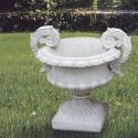 Vaso Alpins- arredo da giardino in graniglia di marmo di carrara