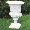 Vaso Biancospino (piccolo)- arredo da giardinoin graniglia di marmo di carrara