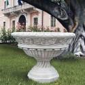 Ciotola Assisi-arredo da giardino in graniglia di marmo di carrara