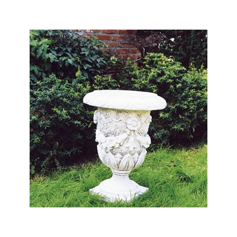 Vaso Tulipano- arredo da giardino in graniglia di marmo di carrara