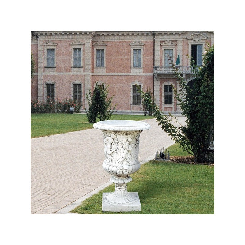 Vaso Primavera-arredo da giardino in graniglia di marmo di carrara