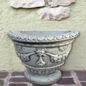 Mezzo Vaso Ortensia (Grande)-arredo da giardino in graniglia di marmo di carrara