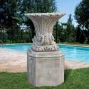 Vaso Lillium- arredo da giardino in pietra ricomposta