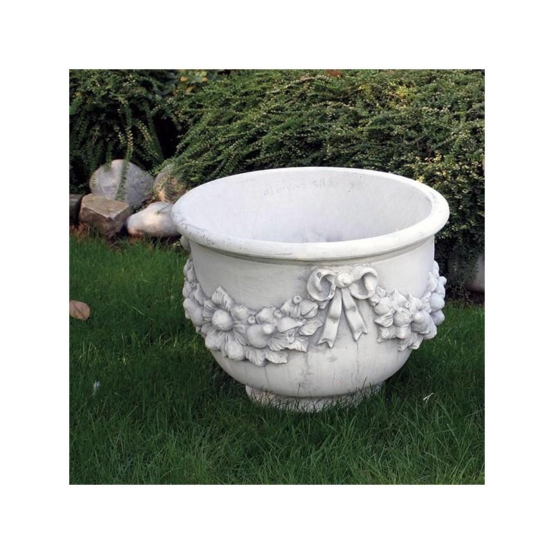 Vaso Gran Duca- arredo da giardino in graniglia di marmo di carrara