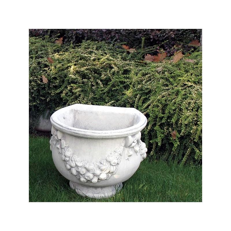 Vaso Gran Duca a Muro- arredo da giardino in pietra ricomposta