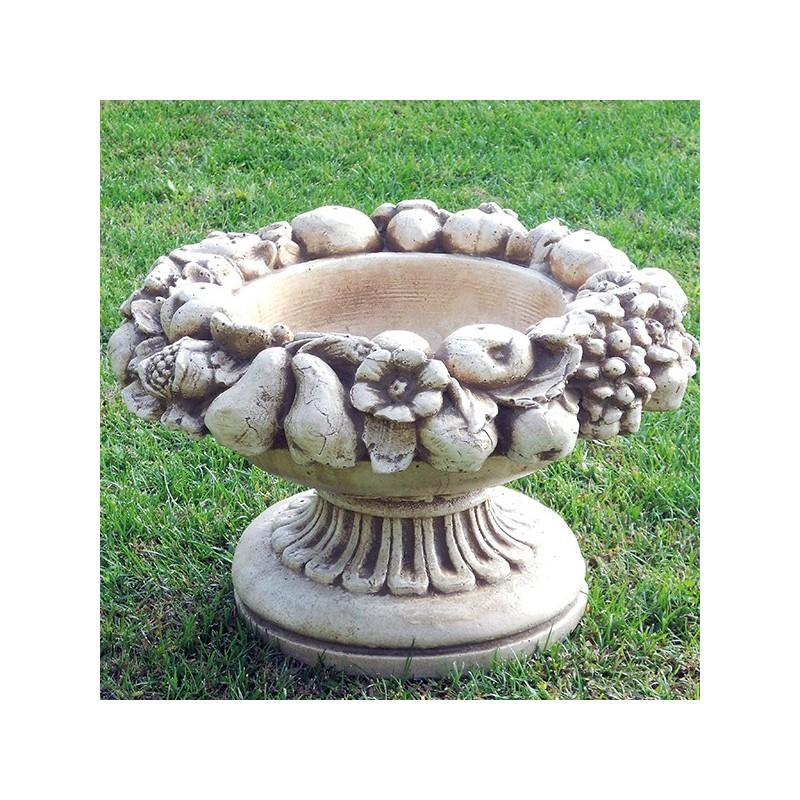 Vaso Frutta- arredo da giardino in pietra ricomposta