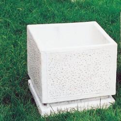 vaso martellinato quadrato (grande) - italpark srl - Piccolo Giardino Quadrato