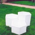 Vaso Esagonale (grande)- in graniglia di marmo di carrara 100% made in italy