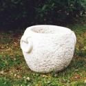 Vaso Azalea (Piccolo)-arredo da giardino in pietra ricomposta 100% made in Italy