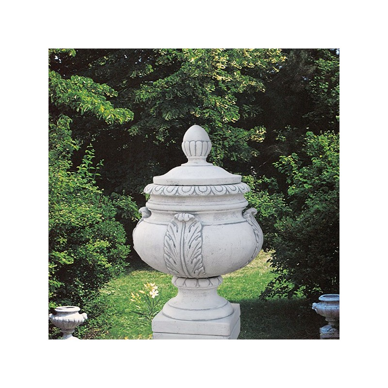 Anfora Villa Borghese-arredo da giardino in pietra ricomposta