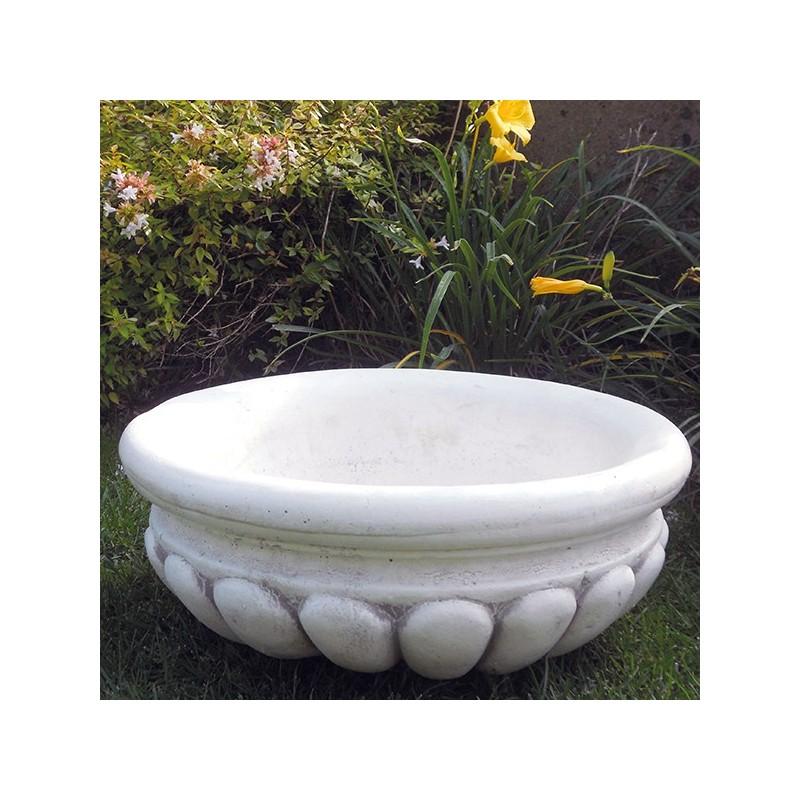 Ciotola-arredo da giardino in graniglia di marmo di carrara