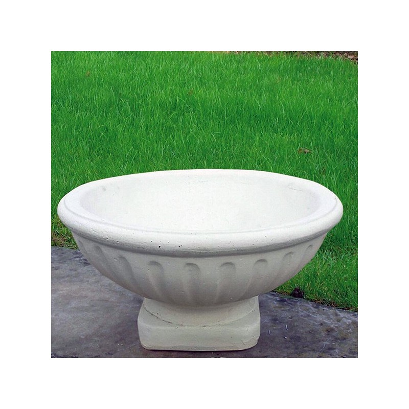 Ciotola Olimpia- arredo da giardino in pietra ricomposta