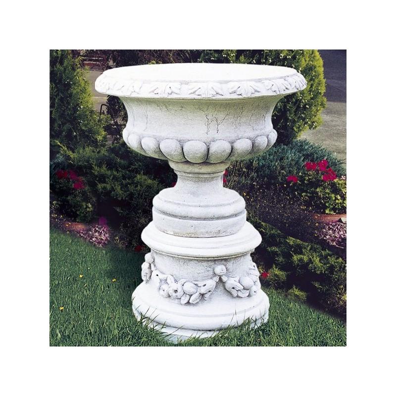 Vaso Narciso-arredo da giardino in graniglia di marmo di carrara