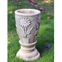 Vasetto Camomilla- arredo da giardino in pietra ricomposta