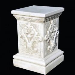 Base Pitagora- arredo da giardino in graniglia di marmo di carrara
