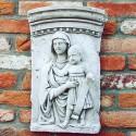 Bassorilievo Allelujia - arredo da giardino in graniglia di marmo di Carrara 100% Made in Italy