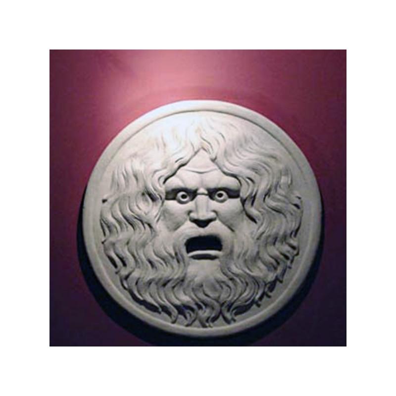 Bocca della verità - arredo da giardino in graniglia di marmo di Carrara 100% Made in Italy