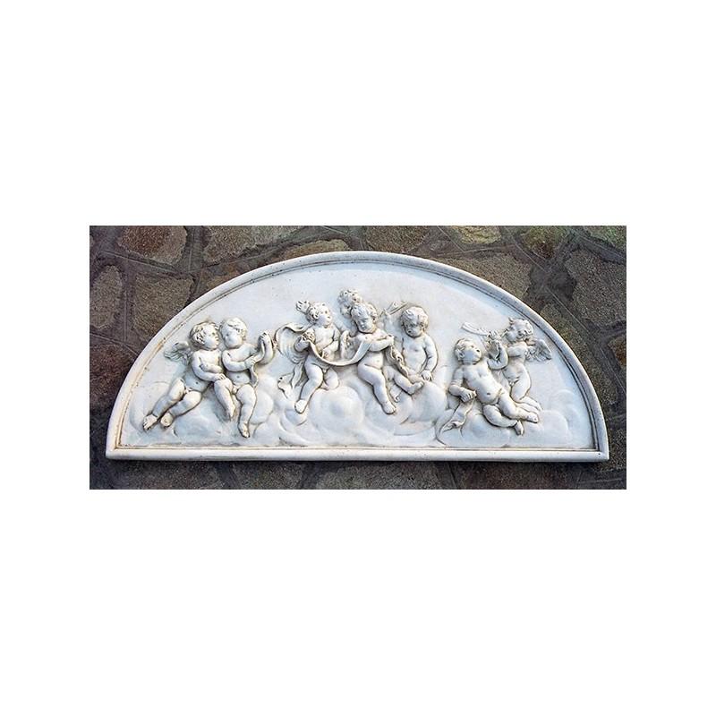 Bassorilievo - arredo da giardino in pietra ricomposta