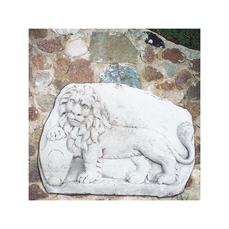 Leone di S. Marco - arredo da giardino in pietra ricomposta 100% Made in Italy