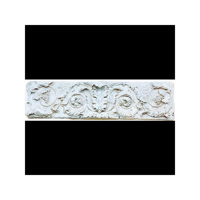 Bassorilievo floreale - arredo da giardino bassorilievo in graniglia di marmo di Carrara
