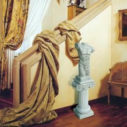 Torso di uomo - arredo busto in graniglia di marmo di Carrara 100% Made in Italy