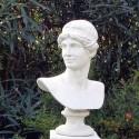 Busto Greco - busto da giardino in pietra ricomposta 100% Made in Italy