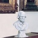 Busto G. Verdi - arredo da giardino in graniglia di marmo di Carrara 100% Made in Italy