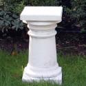 Colonnetta Ambra - arredo da giardino in pietra ricomposta al 100% Made in Italy