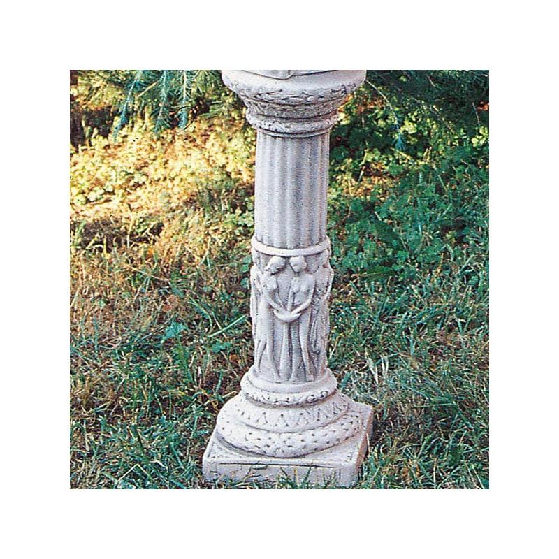 Colonnetta Acradina - arredo da giardino in pietra ricomposta