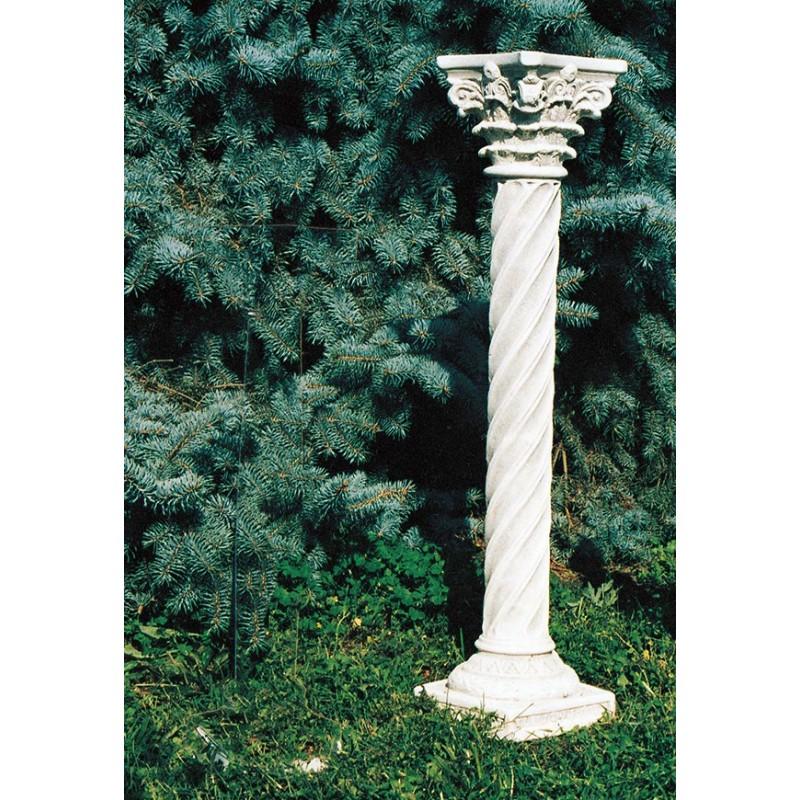 Colonnetta Platea - arredo da giardino in pietra ricomposta 100% Made in Italy