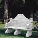 Panchina villa borghese - arredo da giardino in graniglia di marmo di Carrara 100% Made in Italy