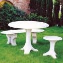Salotto Cervinia - arredo da giardino in graniglia di Marmo di Carrara 100% Made in Italy