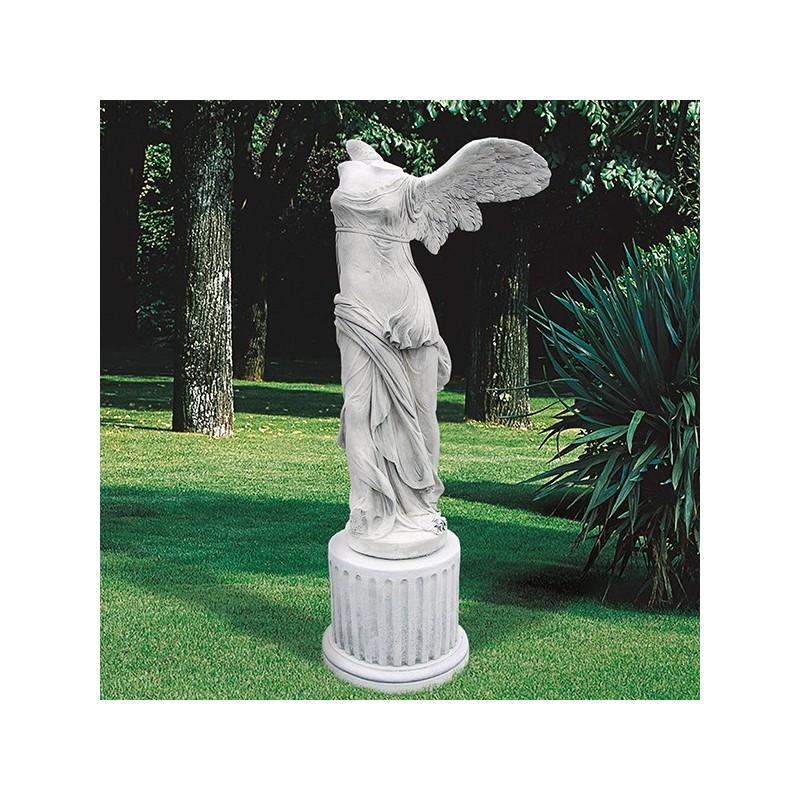 Nike di Samotracia - statue da giardino in graniglia di marmo di Carrara