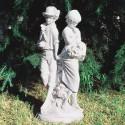 La prima volta (1° amore) - statue da giardino in graniglia di marmo di Carrara