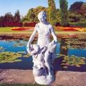 Campagnola - statua da giardino in graniglia di marmo di Carrara