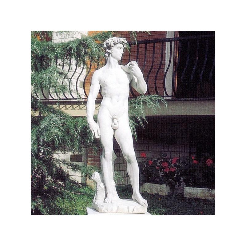 David di Michelangelo - statua da giardino in graniglia di marmo di Carrara