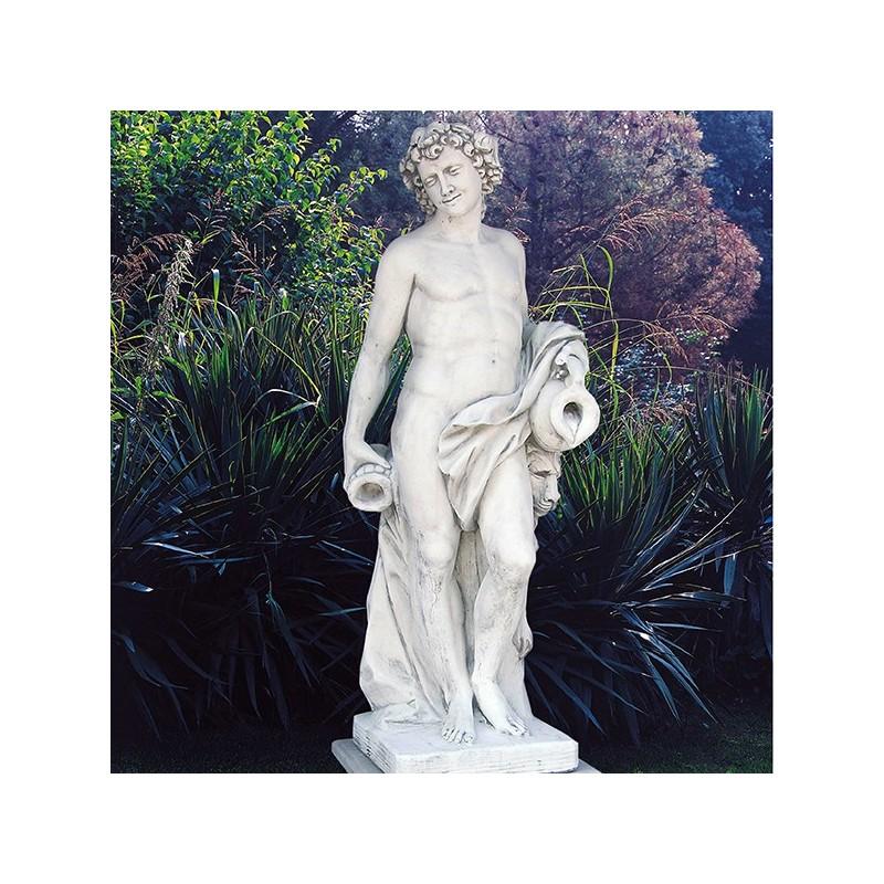 Bacco - statue da giardino in graniglia di marmo di Carrara