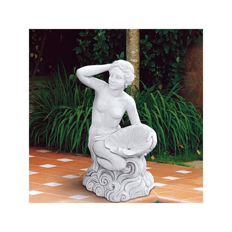 Raffaella - statua da giardino in pietra ricomposta