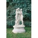 Tre Grazie - statue da giardino in graniglia di marmo di Carrara