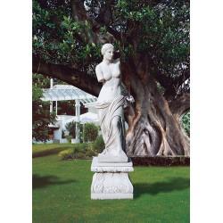 Venere di Milo - arredo da giardino in graniglia di marmo di Carrara