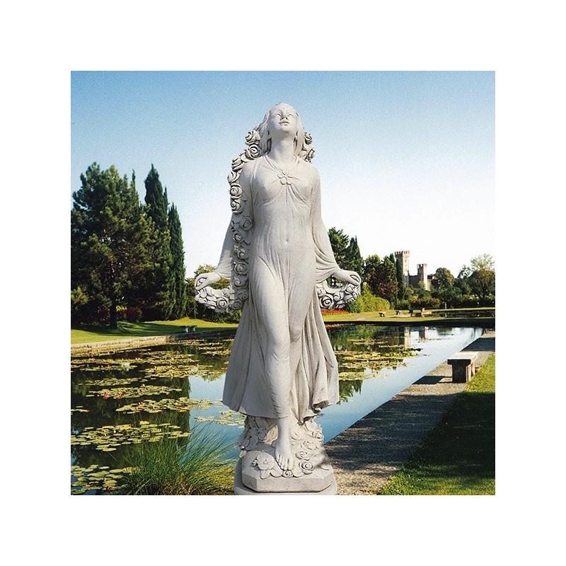 Venere di S. Remo (dea dei fiori) - statue da giardino n graniglia di marmo di Carrara