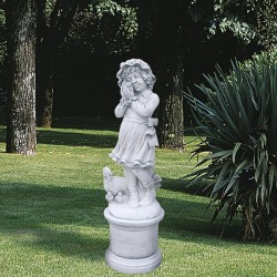 La contadinella - statue da giardino in graniglia di marmo di Carrara